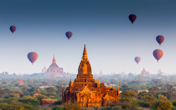 Complimentary Hot Air Balloon Ride in Bagan